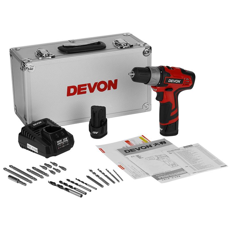 máy khoan vặn vít 12V Devon 5262-Li-12TS (Hộp nhôm/2×1.5Ah/Phụ kiện)